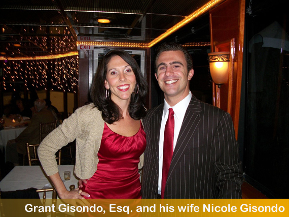 Grant Gisondo with his wife