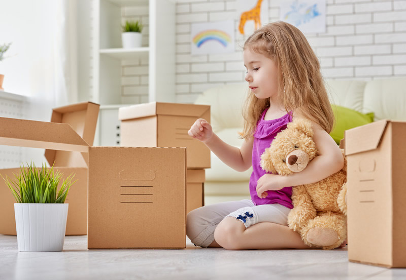 relocation with a minor child contested